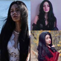 black-synthetic-lace-front-wigs