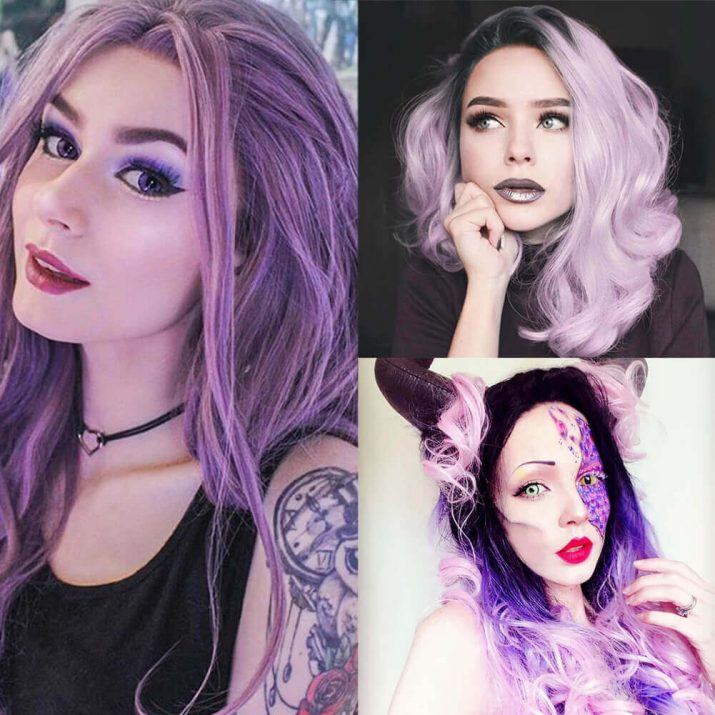 purple-synthetic-lace-front-wigs